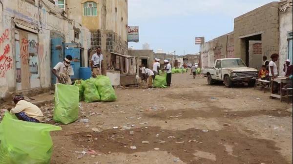 """ذوباب تشهد حملة نظافة في إطار مواجهة كورونا بدعم """"هلال الإمارات"""" في الساحل الغربي"""