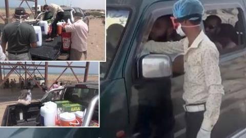 الساحل الغربي.. توزيع أدوات رش وتعقيم وملابس طبية للفرق الميدانية بمنفذ ذوباب - فيديو