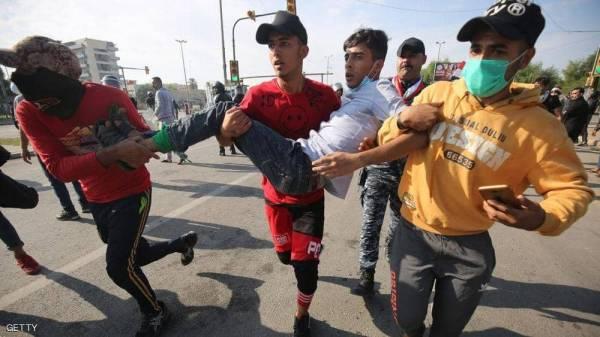 العراق.. الرصاص الحي يوقع جرحى في صفوف المتظاهرين