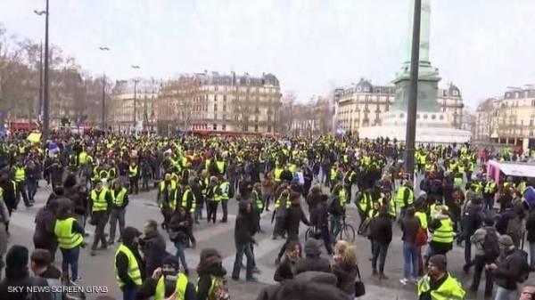 اعتقالات ومواجهات مع عودة &#34السترات الصفراء&#34 إلى باريس