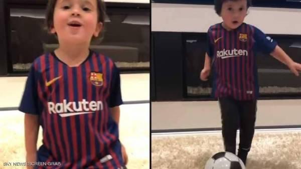 """ابن ميسي يصيب قلب """"الهدف"""".. والفيديو يحصد ملايين المشاهدات"""