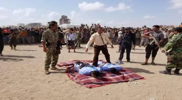 تنفيذ حكم اعدام بساحة سجن المنصورة بعدن - صورة
