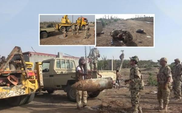 الحديدة.. هندسة المشتركة تنزع 5 رؤوس صاروخية  زرعتها مليشيا الحوثي  في منتجع سياحي - فيديو