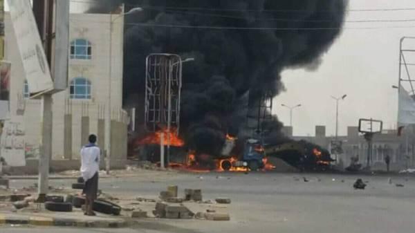 محرقة للحوثيين على يد وحدات نوعية من &#34حراس الجمهورية&#34 في مدنية الحديدة