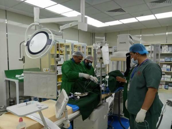 بلسم 2 تقيم حملة خيرية لجراحة وقسطرة قلب الاطفال والكبار بالمكلا