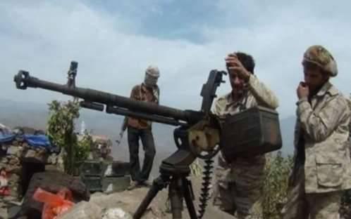 إسقاط طائرة حوثية مسيرة في جبهة الحبج بالبيضاء
