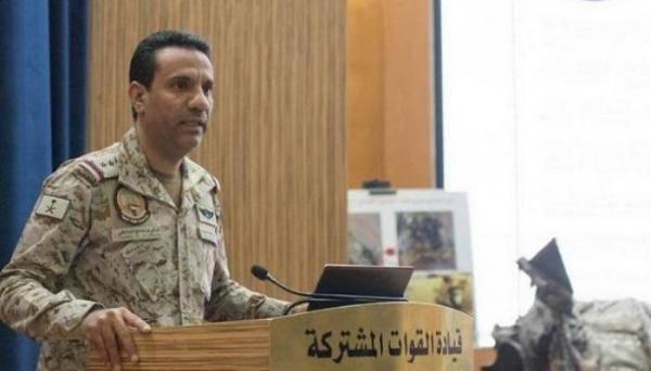 """الناطق باسم التحالف: إسقاط """"درون"""" حوثية باتجاه أبها السعودية أطلقتها المليشيات من محافظة عمران"""