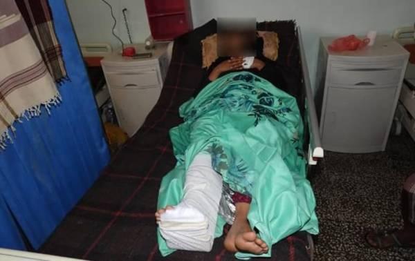 """قناص حوثي أقعد """"كاتبة"""".. مؤتمر صحفي لجبهة الضالع يعرض الانتصارات العسكرية والمعاناة الإنسانية"""