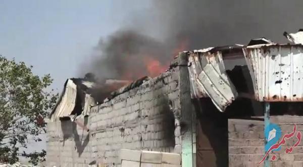 الحوثيون يستهدفون مزارع ومساكن المواطنين في بيت الفقيه بالقذائف