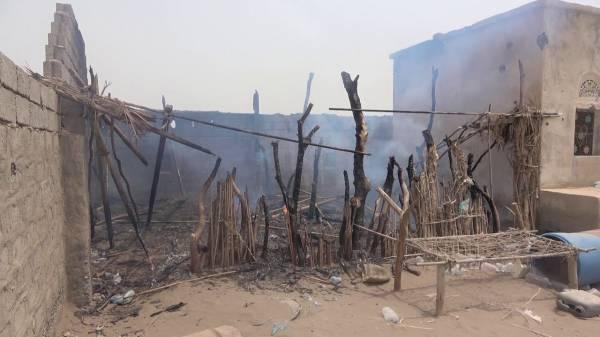 نيران مليشيا الحوثي تصيب مواطن بحيس، وقصف متواصل على قرى الجبلية بالأسلحة المتوسطة