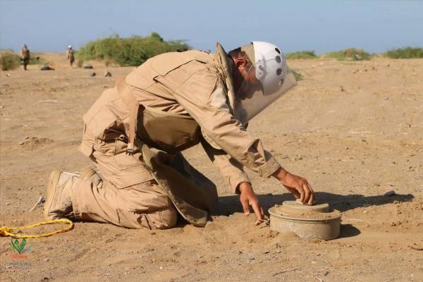 مسام ينتزع 257 لغماً حوثياً و3 عبوات ناسفة خلال الأسبوع الرابع من مارس