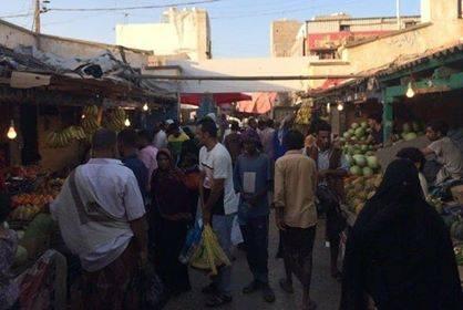 عدن.. ازدحام رمضاني في أسواق الشيخ عثمان
