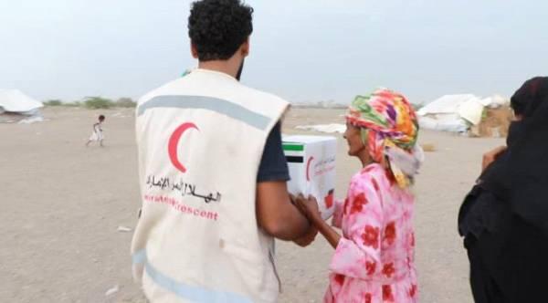 الهلال الإماراتي يغيث أهالي منطقة الطائف في الساحل الغربي