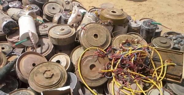 إتلاف 2000 لغم وعبوة متفجرة زرعتها المليشيا غرب صعدة