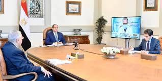 الرئيس المصري يجتمع بمدراء مستشفيات العزل الصحي ويصدر توجيهات