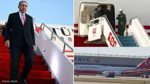 """أردوغان يطير بـ""""الهدية القطرية"""" الفاخرة"""