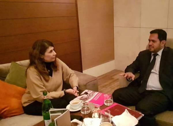 وزير حقوق الإنسان يبحث مع مسؤولة العمليات بمنظمة &#34نداء جنيف&#34 التعاون المشترك